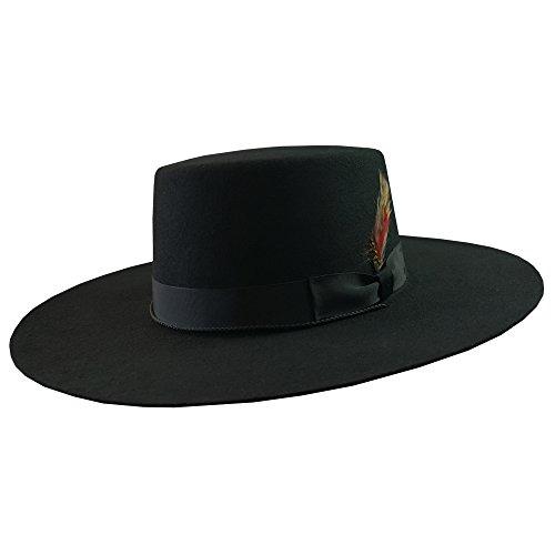 DelMonico Bolero Hat-Black-Medium -