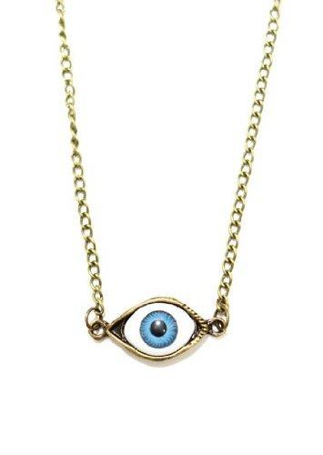 BUYINHOUSE Third Eye Chakra Necklace Gothic Eyeball Occult NC21 Gold Tone Punk Vintage Choker Pendant Fashion