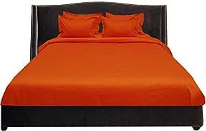 Brightlinen Orange Single (90 X 190 Cm) Duvet Set Solid 5pcs