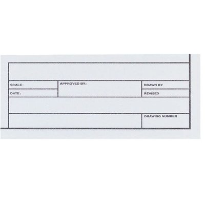 Alvin 6855/B-XO-8 Alva-Line Tracing Paper with Title Block and Border, Medium Weight 16 Lb Basis Vellum Paper, Non-fading Blue-white Tint, 24'' x 36'' Tracing Paper, Pack of 10 Sheets by Alvin