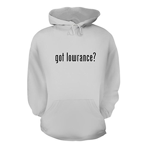 got lowrance? - A Nice Men's Hoodie Hooded Sweatshirt, White, Large (19 Ice Transducer)