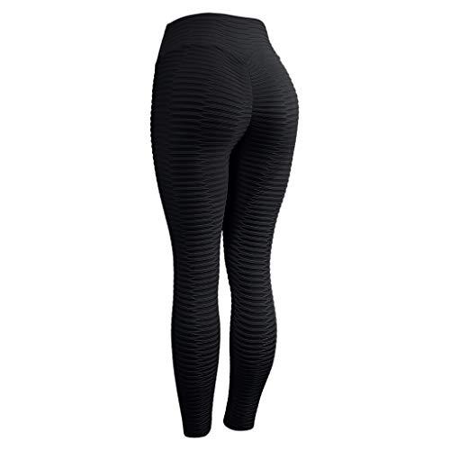 Women Scrunch Butt Yoga Pants Leggings High Waist Waistband Workout Sport Fitness Gym Tights Push Up Booty Leggings Black