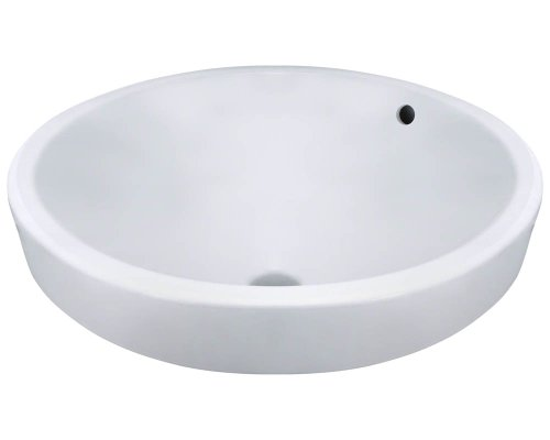 V22182-W White Porcelain Vessel Lavatory Sink