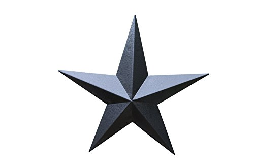 40 Inch Heavy Duty Metal Barn Star Painted Hammered - Tin Barn Amish