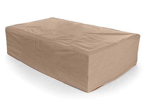 CoverMates – Sectional Set Cover – 138W x 68D x 30H – Ultima Collection – 7 YR Warranty – Year Around Protection- Tan by CoverMates