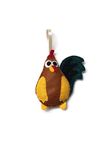 Elroy the Rooster Christmas Ornament