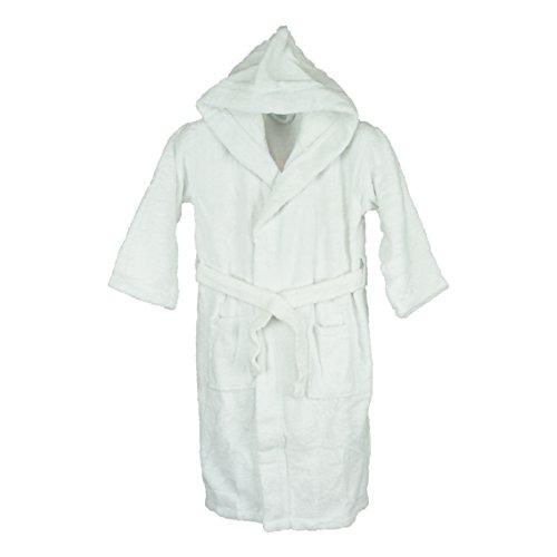 Silken Kids Teenagers Kids Boys Hooded Bath Robe Unisex 100% Turkish Cotton (X-Large 40