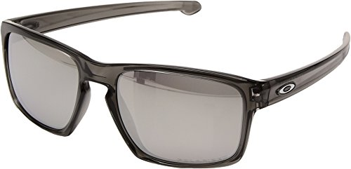 Oakley  Men's Sliver Polarized Grey Smoke/Chrome Iridium One - Oakley Silver
