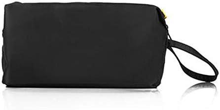 トイレタリーバッグ化粧品袋 トラベルウォッシュバッグコスメティックバッグ旅行旅行収納袋ポータブルストレージウォッシュバッグ シェービングキットオーガナイザーバッグ (色 : Black, Size : 11x20x9cm)