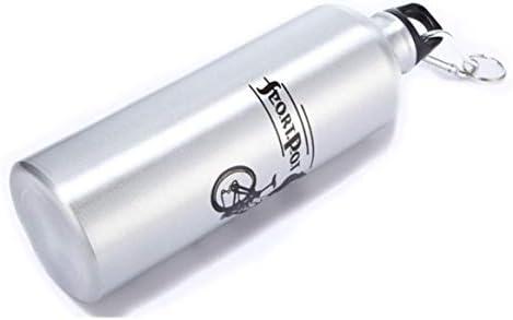700MLポータブルサイズ耐久性のあるアルミニウム合金アウトドアサイクリングキャンプウォーターボトル自転車バイクスポーツドリンクジャグボトル-シルバー