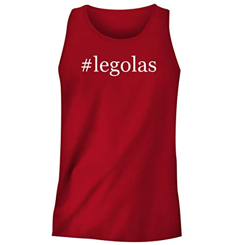 One Legging it Around #Legolas - Hashtag Men's Funny Soft Adult Tank Top, Red, Medium