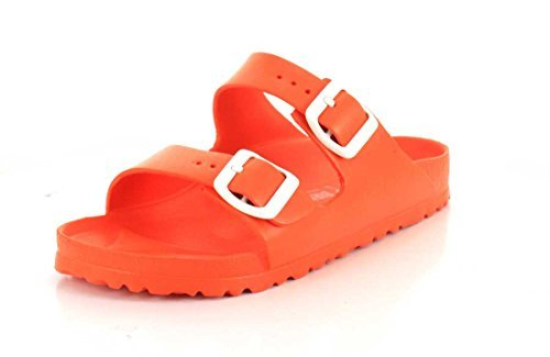 Birkenstock Unisex Arizona Essentials EVA Scuba Coral Sandals - 36 N EU / 5-5.5 2A(N) US (Birkenstock With Heel Strap)