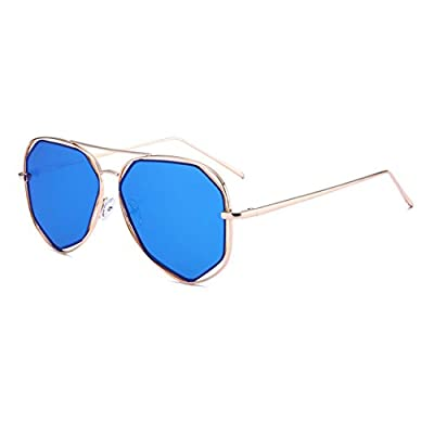 Fashion Polarized Hollow Polygon Sunglasses for Women UV400 Protection Mirrored Lens