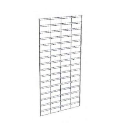 Econoco Metal Slat Grid for Any Retail Display, 2' Width x 4' Height, 3 Grids Per Carton (Chrome)