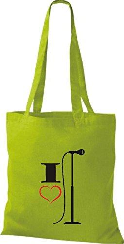 Shirtstown - Bolso de tela de algodón para mujer Verde - kiwi