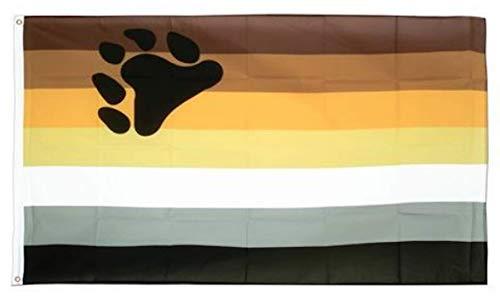 - Jasper Merchandise Bear Pride Flag 3 x 5 Feet (36 x 60 Inches) Pride LGBT Polyester Two Metal Grommets Flagpole