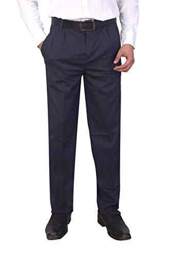 Particle Men's Pleat-Front Formal Trousers (Sizes 32-46)