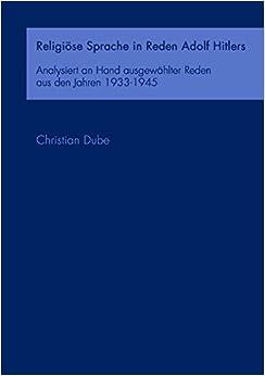 Book Religiöse Sprache in Reden Adolf Hitlers (German Edition)