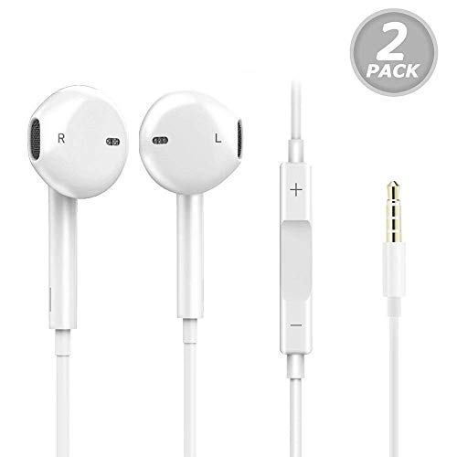 Earbuds/Earphones/Headphones, Premium in-Ear Wired Earphones with Remote & Mic Compatible Apple iPhone 6s/plus/6/5s/se/5c/iPad/Samsung/MP3 MP4 MP5 ()