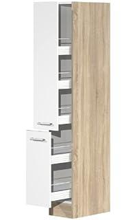 flex-well 00007819 apotheker-hochschrank valero hochglanz weiß ... - Hochschrank 30 Cm Breit Küche