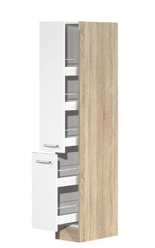 Cool Apothekerschrank 30 cm breit Weiß Sonoma Eiche - Salerno: Amazon  TA34