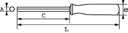 SAM Outillage 291T-5 Cl/é /à douille emmanch/ée 6 pans de 5 mm