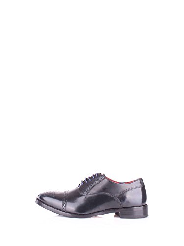Base London Men's Noel Hi Shine Leather Semi Brogue (RI02402) Navy