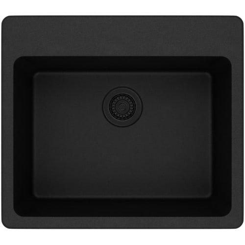 Elkay Quartz Classic ELG2522BK0 Black Single Bowl Top Mount Sink