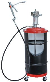 Pneumatic Pump Drum (Lincoln Lubrication 6917 Air-Operated Portable Grease Pump Package)
