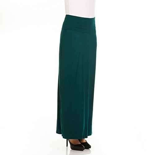 Women Fold Over Maxi Skirt, Solid Striped, Luxe Jerry, Comes in All Sizes by X America