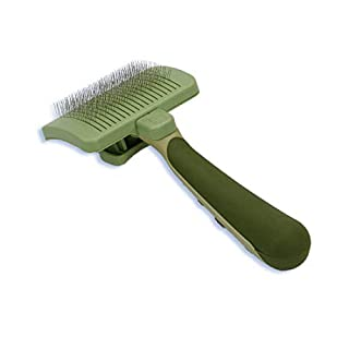Safari by Coastal Self-Cleaning Slicker Brush to Reduce Shedding for Everyday Coat Care of All Cat Breeds (B000YIWUXI) | Amazon price tracker / tracking, Amazon price history charts, Amazon price watches, Amazon price drop alerts