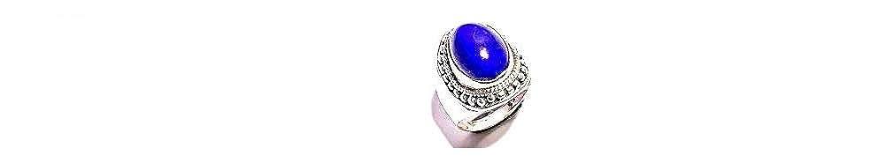 Size 6.75 U.S mughal gems /& jewellery 925 Sterling Silver Ring Natural Lapis Lazuli Gemstone Fine Jewelry Ring for Women /& Girls