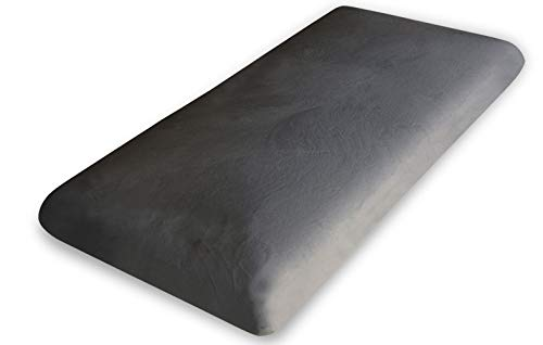 Todocama - Almohada viscoelástica Carbono Natural, compuesta por un núcleo 100% viscoelástico con partículas de Carbono Activo Que disminuyen los Malos olores y humedades. (135 cm)