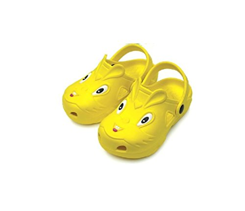 Image of Children's All-Weather Novelty Animal Clogs Toddler Thru Little Kid Sizes (11, Yellow)