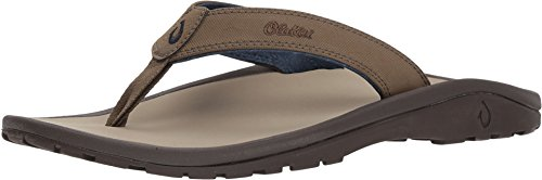 OLUKAI Men's Ohana Sandals, Husk/Clay, 13 M US