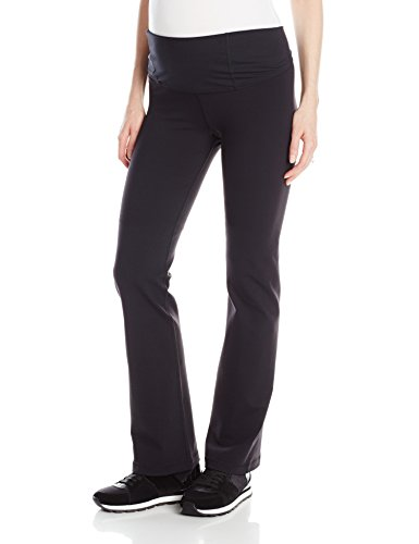 Ingrid & Isabel Women's Crossover Panel Active Maternity Pant - Long, Jet Black, Medium (Maternity Pants Long compare prices)