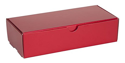 2 lb RED Tuck Top Candy Box - Case of 250