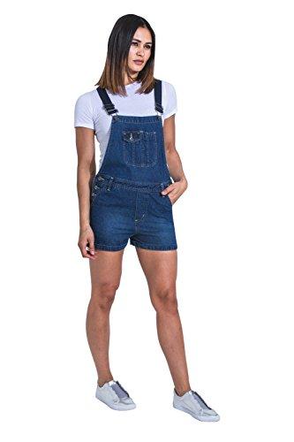 Donna Denim Salopette Palewash Pantaloncini Corte Uskees Imogenpw BXwq11