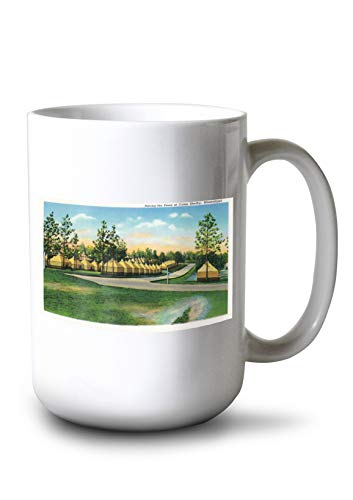 Lantern Press Camp Shelby, Mississippi - View of Army Tents Among The Pine Trees (15oz White Ceramic Mug)