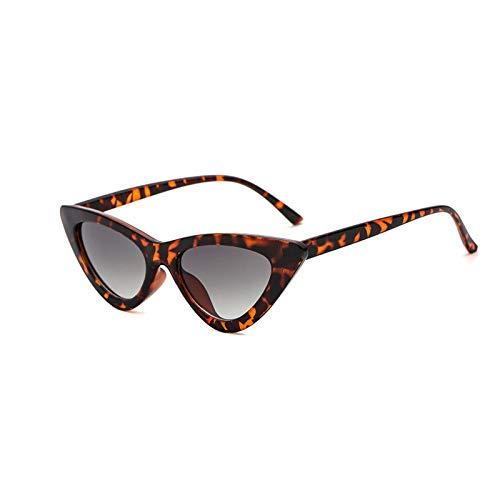 YOSHYA Retro Vintage Narrow Cat Eye Sunglasses for Women Clout Goggles Plastic Frame (Leoaprd ()