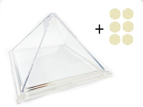 Transparent pyramid box container for Chakra Spiritual energy meditation Healing