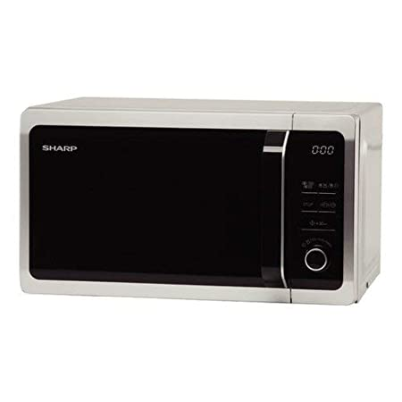 Sharp r-652in Horno microondas, 800 W, 20 L, Color Plateado y Negro