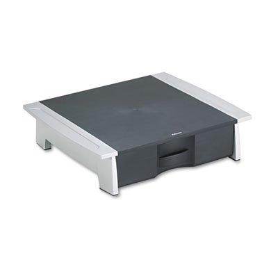 Printer/Fax Machine Stand, 21 1/4 x 18 1/8 x 5 1/4, Black/Silver, Sold as 1 Each by Fellowes