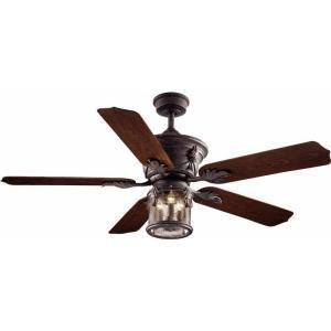 Patina 52 Inch Ceiling Fan (Hampton Bay Milton 52 in. Indoor/Outdoor Oxide Bronze Patina Ceiling Fan)