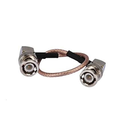 DHT Electronics RF coaxial coax cable assembly BNC male to BNC male both right angle 6'' - Right Angle Bnc