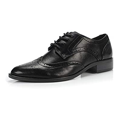 FOOTSELF DUNION Berry Women's Classic Comfortable Perforated Brogue Low Heels Casual Oxford Daily Shoe