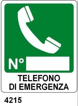 Cartel de Aluminio 31 x 23 cm - Teléfono de Emergencia ...