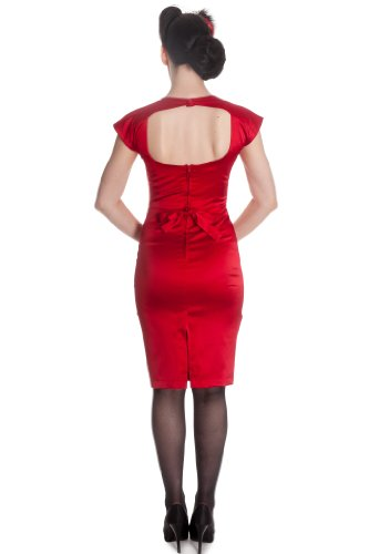 Hell Bunny vestido de Ángela Merkel Dress 4295 Rojo
