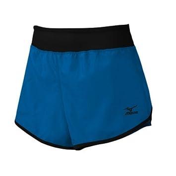 Mizuno Women's Dynamic Cover Up Shorts, Diva BlueBlack, X