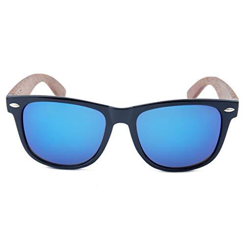 Oscuro Protección sol Retro Unisex del Madera Marco la Manera de bambú PC de del Ultravioleta Color clásico de Gafas Marron Gafas Marron Brazo la Oscuro SqdPcqZ